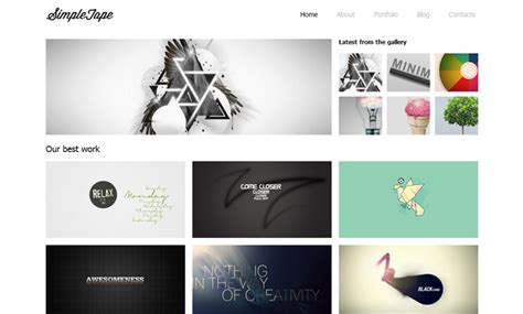 free minimal html template 25 free html5 templates designgrapher