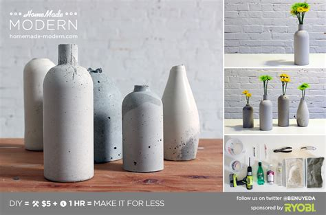 concrete diy ep27 concrete vases modern