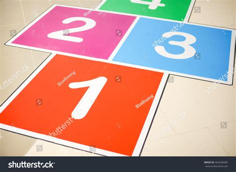 hopscotch step count number on stock photo 469269965