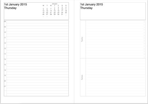 printable calendar diary image gallery diary pages 2015
