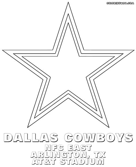 cowboys football coloring page dallas cowboys nfl sheets coloring pages