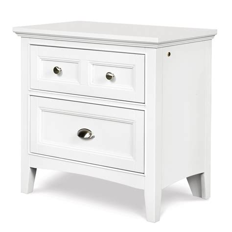 white nightstand with wood drawers kenley wood two drawer nightstand in white humble abode