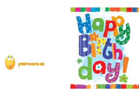 Print Out Birthday Card Printable Birthday Card Free Birthday Cards Free