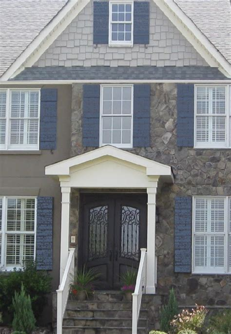 light gray house what color shutters medium light gray white with slate blue shutters