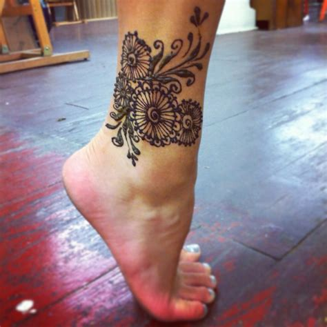 henna tattoo on ankle henna ankle by gennavieve on deviantart