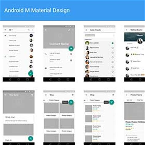 material design app mockup android m material design wireframes kit v2 psd mockups