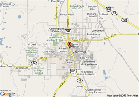 map of zephyrhills florida area map of magnuson hotel zephyrhills zephyrhills