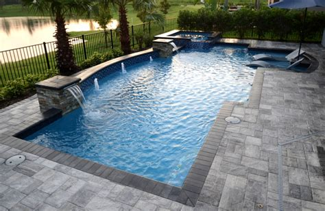 geometric pool geometric pool designs orlando sanford custom pools the villages