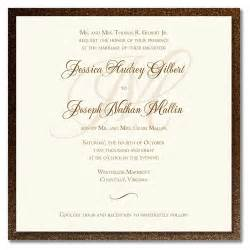 best wedding invitation cards wedding invitation wording sles wedding invitation wording
