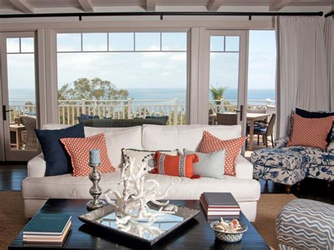 blue beach house living room www imgkid com the image coastal living room ideas hgtv