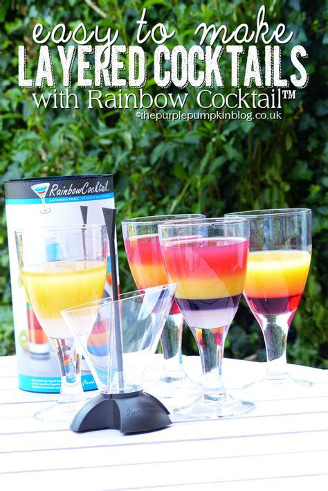 rainbow cocktail easy to make layered cocktails with rainbow cocktail