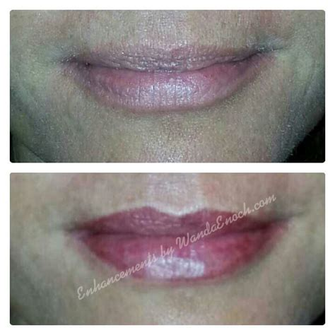 lip tint tattoo before after permanent makeup lip tattoo eyeliner tattoo microblade