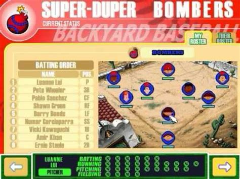 backyard baseball 2003 gameplay part 1