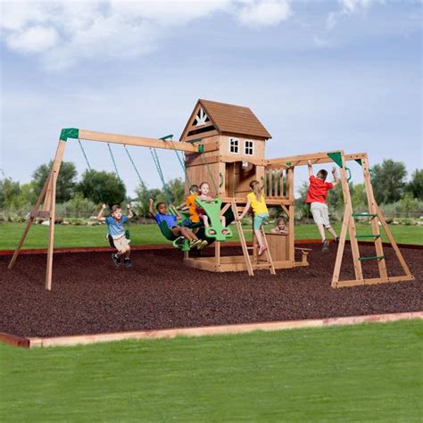 backyard discovery montpelier cedar swing set montpelier wooden swing set