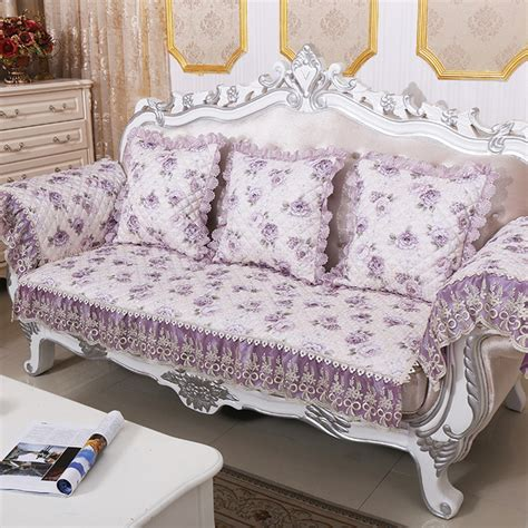 floral sofa throws pastoral jacquard fabric case on the couch quilted sofa