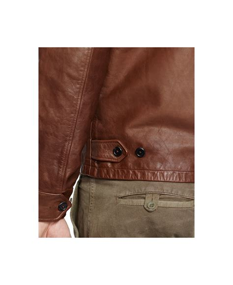 Dress Import Brown Bigsize lyst polo ralph big and leather barracuda jacket in brown for