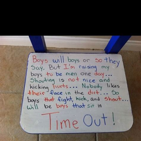 Time Out Chair Sayings