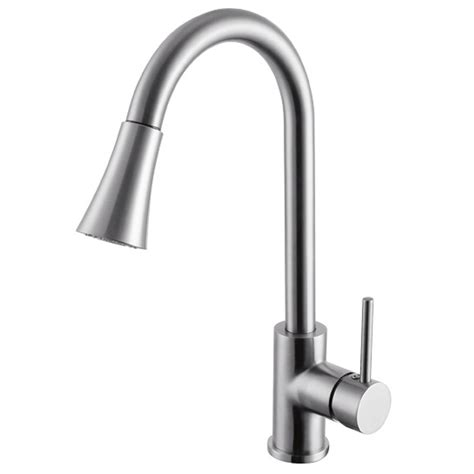 solid stainless steel pull sprayer kitchen bar sink