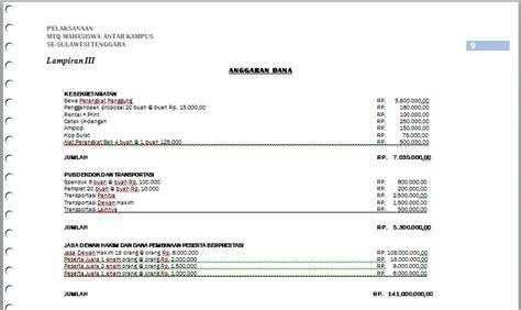 format proposal dana contoh proposal musabaqah antar kus sq blog