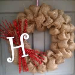 burlap wreath super easy to make joy pinterest