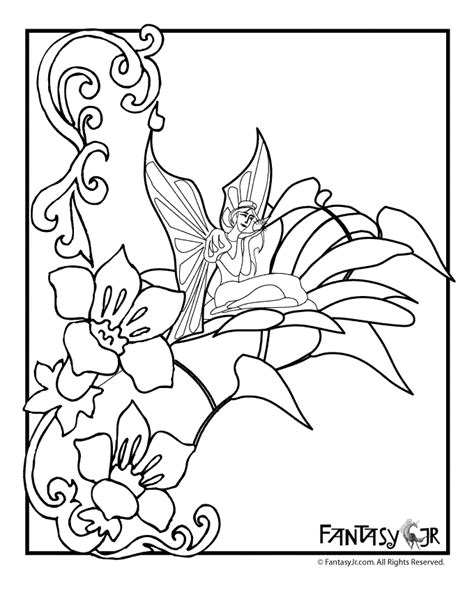 coloring pages fairies and flowers flower fairies coloring pages from and morep fairy
