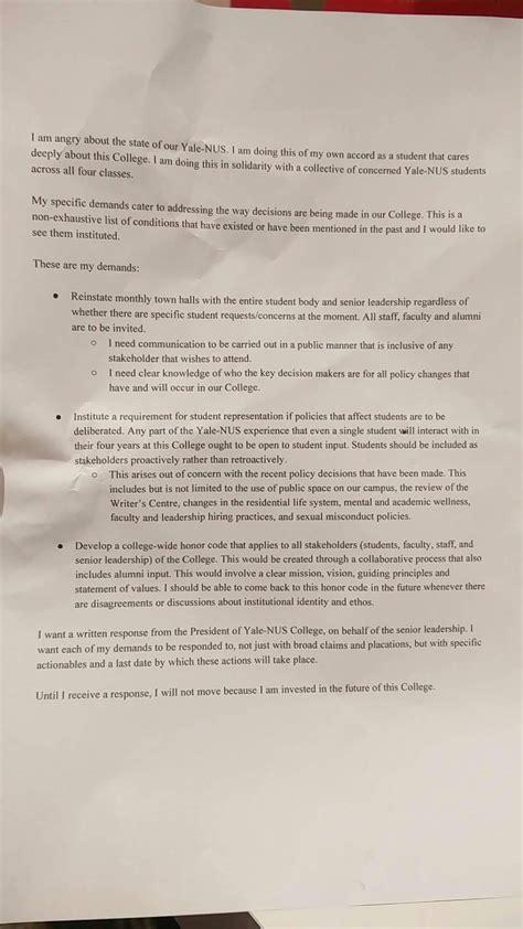 certification letter nus 疑不满校方决策方式耶鲁国大学生静坐抗议 新国志