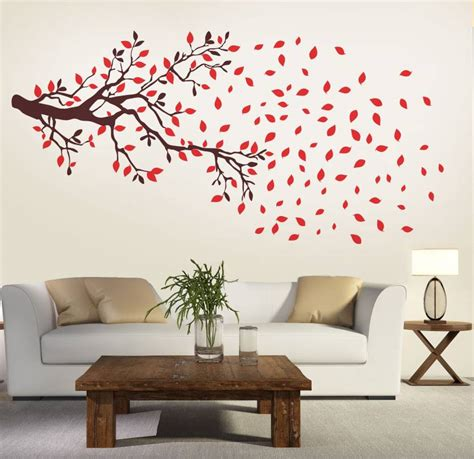 Motif Burung Wallsticker Uk 50 X 70 Cm new way decals wall sticker floral botanical wallpaper price in india buy new way decals