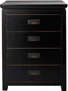 hanoi black lacquer chest of drawers bedroom