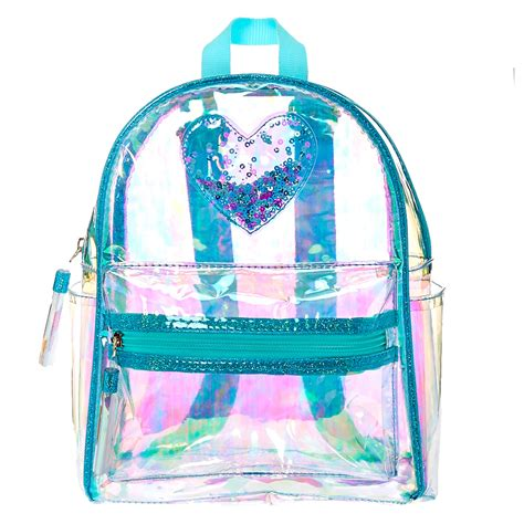 Sm Gift Card 2000 - clear iridescent mint mini backpack claire s us