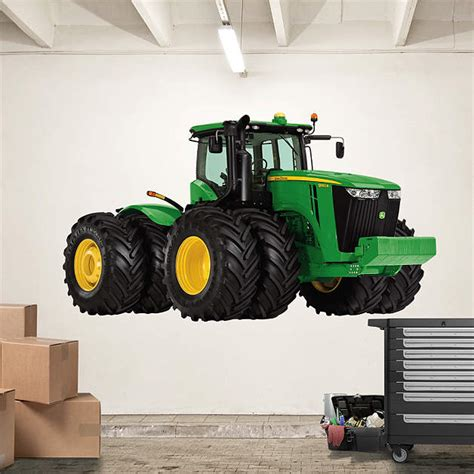deere stickers for walls deere 9560r tractor wall decal shop fathead 174 for