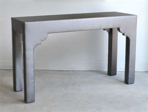 Upholstered Console Table with Custom Upholstered Console Table At 1stdibs
