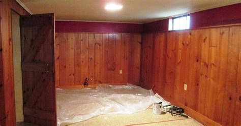 basement wall panels painted in white hometalk