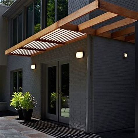 awnings designs modern wood awning interiors architecture pinterest