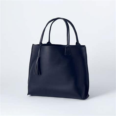 Handmade Leather Tote Bag - bubo handmade leather tote bag west elm
