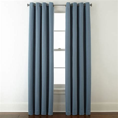 studio curtain panels studio wallace blackout grommet top curtain panel jcpenney