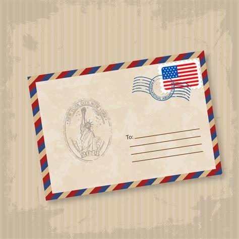 old mail envelope illustration free vector in adobe
