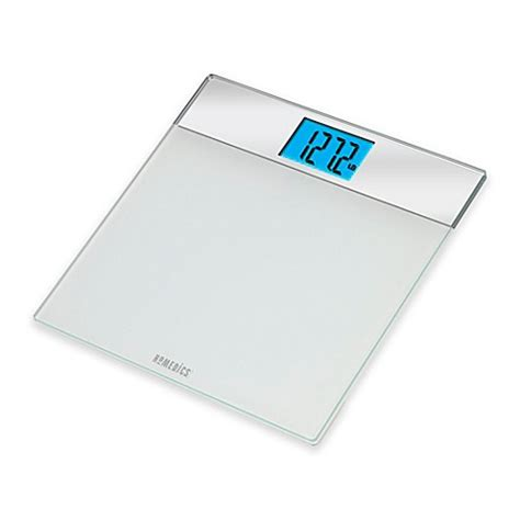 bed bath and beyond scales homedics 174 mirrored glass digital bath scale in white bed
