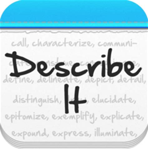 describe it describe it a great new word game for iphone and ipad