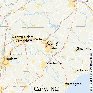 best places to live in cary carolina