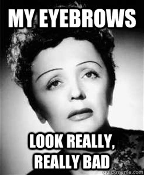 Eyebrows Internet Meme - edith piaf memes quickmeme
