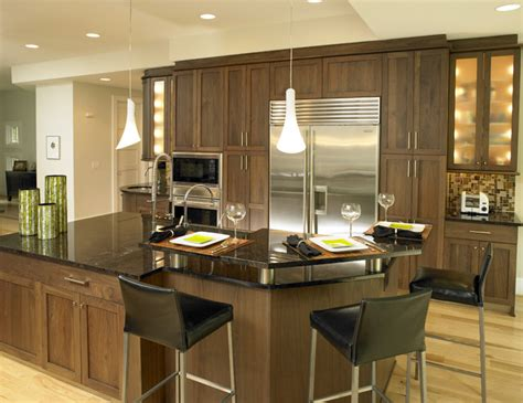 Walnut Kitchen Cabinets by Walnut Kitchen Contemporary Kitchen By