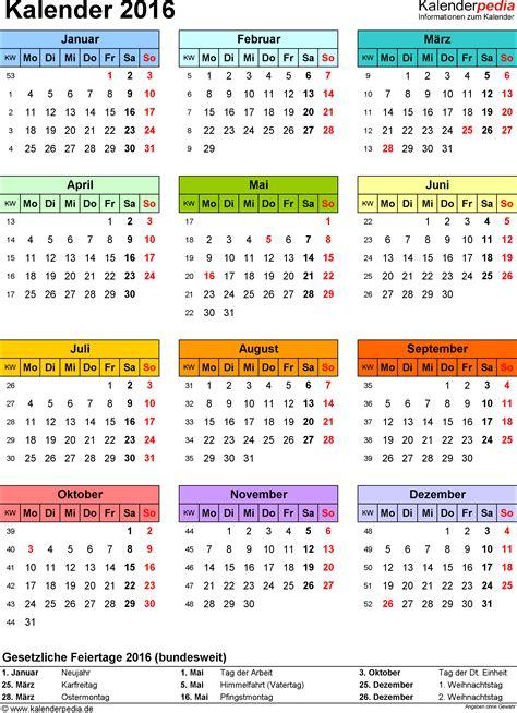 Word Vorlage Jahreskalender 2016 Kalender 2016 In Word Zum Ausdrucken 16 Kostenlose Vorlagen
