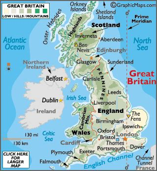 map of britain and europe map of great britain european maps europe maps great