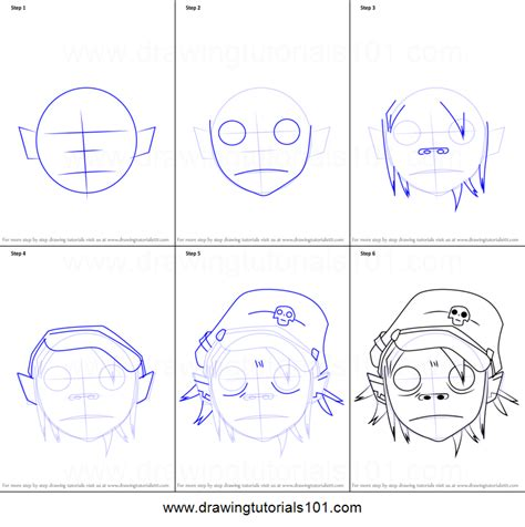 2d Gorillaz Drawing Tutorial