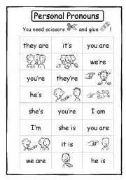 17 best images of pronoun coloring worksheet 2nd grade