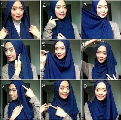 tutorial shawl unik kumpulan cara memakai jilbab shawl simple sehari hari
