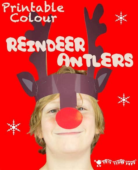 printable reindeer headband reindeer antlers christmas headband colour printable