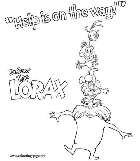 coloring pages of dr seuss the lorax have fun coloring these characters from the film the lorax