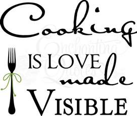 Sunflower Wall Stickers kitchen decals kitchen wall quotes cooking is love made