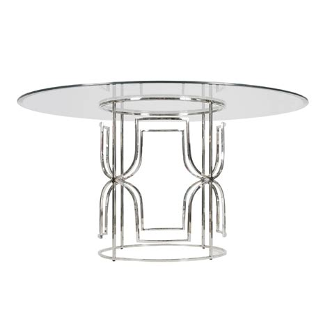 Worlds Away Jennifer Nickel Plated Dining Table Base Only Dining Table Base Only